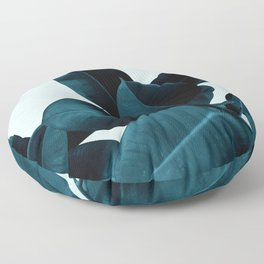 Blue Leaves Floor Pillow
