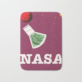 Vintage NASA Space poster Bath Mat