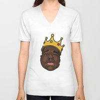 notorious big V-neck T-shirts featuring Notorious by DollarsandCents