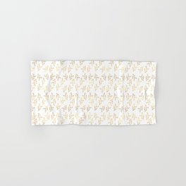 Golden Leaves Pattern Hand & Bath Towel