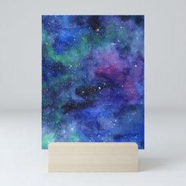 Colorful Galaxy Space Watercolor Mini Art Print