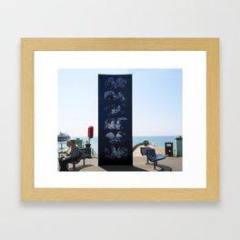 The Kiss Wall, Brighton, UK Framed Art Print