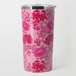 William Morris Chrysanthemums, Fuchsia Pink Travel Mug
