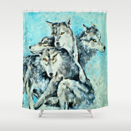 Our Brothers, the Wolves Shower Curtain