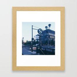 Berlin S-bahn Station Potsdamer platz Framed Art Print