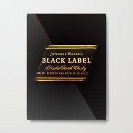 black label 2 Metal Print