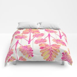 Tropical Palm Leaf Trifecta – Pink Palette Comforters