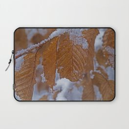 snow and leaves Laptop Sleeve