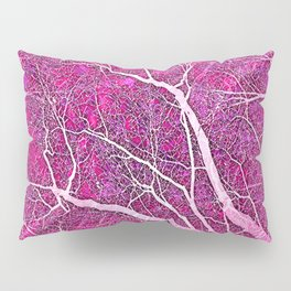 Interconnected Paths (hot magenta-pink) Pillow Sham