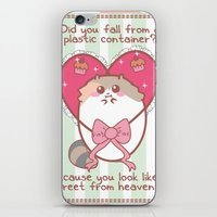 fat iPhone & iPod Skins featuring Fat Fat Valentine by Fat Fat