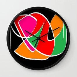 Multicolor black Wall Clock