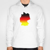germany Hoodies featuring Germany by Fabian Bross