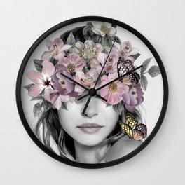 Flower Girl 4 Wall Clock