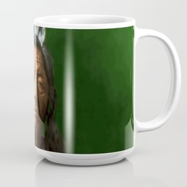 Sitting Elk - Crow Indian Coffee Mug