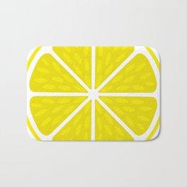Fresh juicy lime- Lemon cut sliced section Bath Mat
