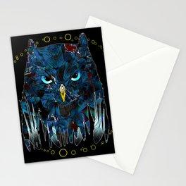 Blue Magic Owl Stationery Cards
