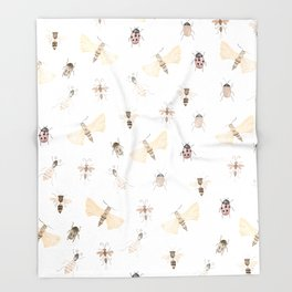 Insects and Bugs Pattern Throw Blanket