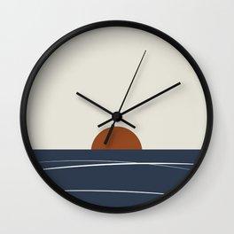 Abstract Auburn Sunset Wall Clock