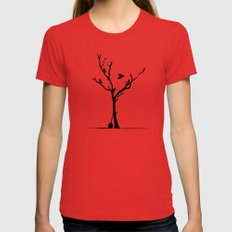 Old Crow X-LARGE Red Womens Fitted Tee