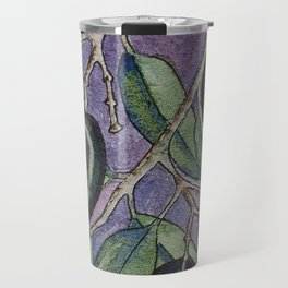Greek olive branch in watercolor Travel Mug