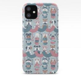 Knitting dog feelings I iPhone Case