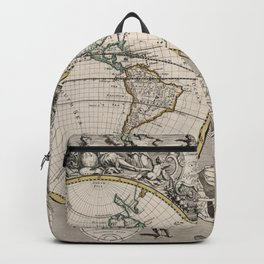 Vintage Map of The World (1721) Backpack