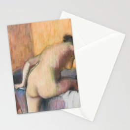 Edgar Degas - Naked lady. Bather Stepping into a Tub Stationery Cards
