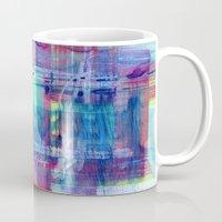 plaid Mugs featuring Plaid by Julie M Studios