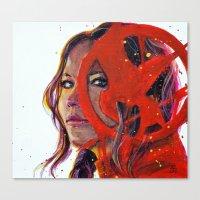 katniss Canvas Prints featuring Katniss by Alina Rubanenko