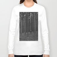 woods Long Sleeve T-shirts featuring Woods by Bird Heart