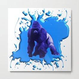 Blue Gorilla Metal Print