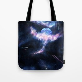 Space Scene Zero One Tote Bag