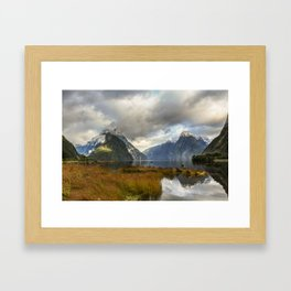 Mitre Peak, Milford Sound, New Zealand Framed Art Print