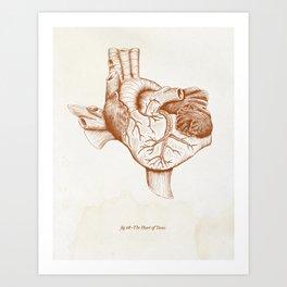 The Heart of Texas (UT) Art Print