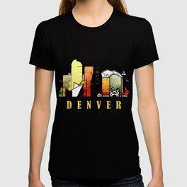Colorful Denver Colorado Skyline T-shirt