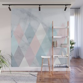 Diamond Peaks on Marble Wall Mural