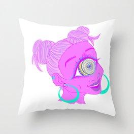 Mandala Cyclops Throw Pillow