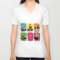 """band V-neck T-shirts featuring """" Rainbow band """" by Karu Kara"""