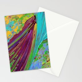 COLOR CHAOS Wild Vibrant Colorful Abstract Acrylic Painting Lime Green Plum Purple Gift Art Decor Stationery Cards