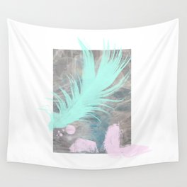 Tealfeather on waterclouds Wall Tapestry