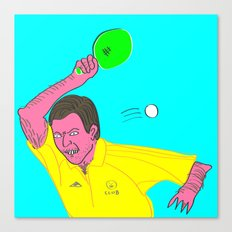 Table Tennis Mad Canvas Print