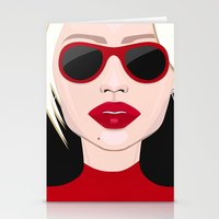 blondie Stationery Cards featuring Blondie by VictoriaPodi