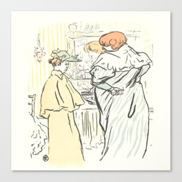 """Henri de Toulouse-Lautrec """"Alors vous êtes sages"""" Canvas Print"""