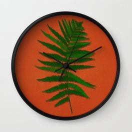 Forest fern Wall Clock
