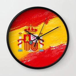 Spain's Flag Design Wall Clock