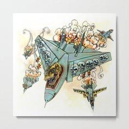 Tyrannosquadron Rex! Metal Print