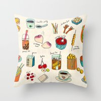hong kong Throw Pillows featuring locals only - hong kong by Joanne Liu