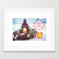 merry christmas Framed Art Prints featuring Merry Christmas by UtArt