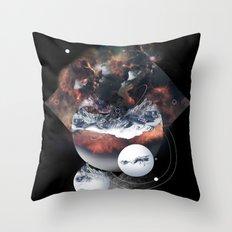 Crystal Nebula Throw Pillow