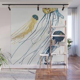 Metallic Jellyfish II Wall Mural